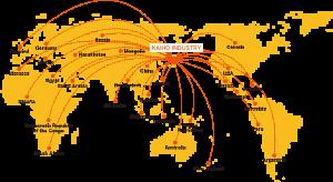 全世界90か国ネットワーク